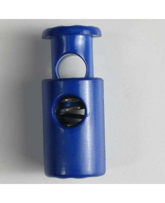 cord stopper with spring - Size: 28mm - Color: blue - Art.No. 280560