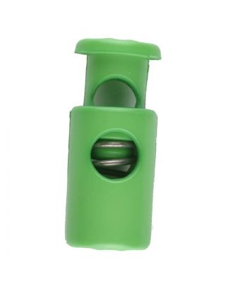 cord stopper with spring - Size: 23mm - Color: green - Art.No. 261256