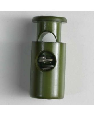 cord stopper with spring - Size: 23mm - Color: dark green - Art.No. 260612
