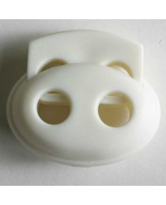 Cord stopper - Size: 23mm - Color: white - Art.No. 280799
