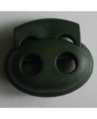 Cord stopper - Size: 23mm - Color: green - Art.No. 280803