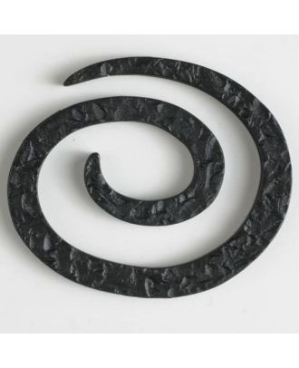 plastic spiral closure - Size: 50mm - Color: black - Art.No. 450142
