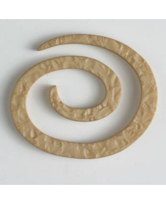plastic spiral closure - Size: 50mm - Color: beige - Art.No. 450143