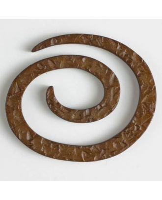 plastic spiral closure - Size: 50mm - Color: brown - Art.No. 450145