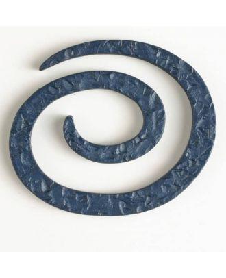 plastic spiral closure - Size: 50mm - Color: blue - Art.No. 450146