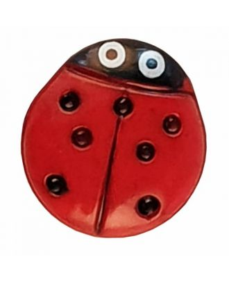 Ladybird button - Size: 15mm - Color: red - Art.No. 280474