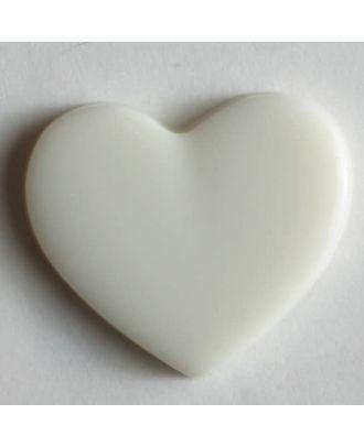 Heart button - Size: 13mm - Color: white - Art.No. 170135