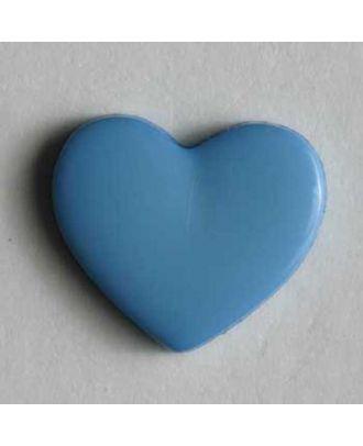 Heart button - Size: 13mm - Color: blue - Art.No. 170141