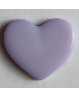 Heart button - Size: 13mm - Color: lilac - Art.No. 170378