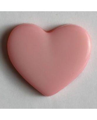 Heart button - Size: 13mm - Color: pink - Art.No. 170364