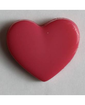 Heart button - Size: 13mm - Color: pink - Art.No. 170346