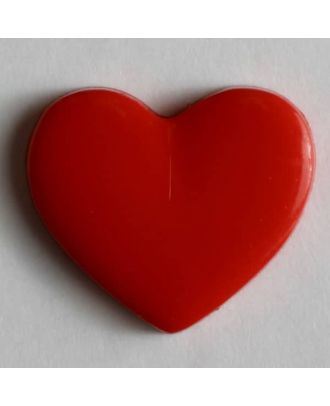 Heart button - Size: 13mm - Color: red - Art.No. 170136