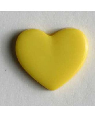 Heart button - Size: 13mm - Color: yellow - Art.No. 170138