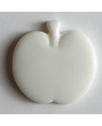 Appel button - Size: 18mm - Color: white - Art.No. 200777