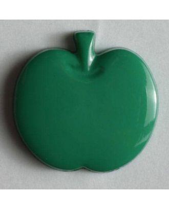 Appel button - Size: 14mm - Color: green - Art.No. 180614