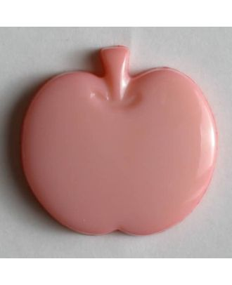 Appel button - Size: 14mm - Color: pink - Art.No. 180615