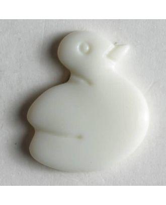 Duck button - Size: 14mm - Color: white - Art.No. 210703