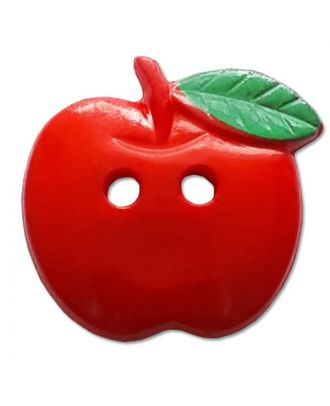 apple button - Size: 19mm - Color: red - Art.No. 251442