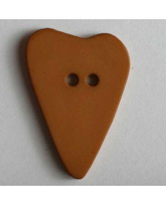 Heart button - Size: 28mm - Color: brown - Art.No. 289112