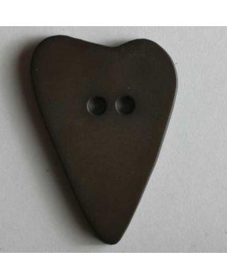 Heart button - Size: 28mm - Color: brown - Art.No. 289056