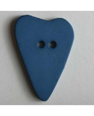Heart button - Size: 28mm - Color: blue - Art.No. 289059