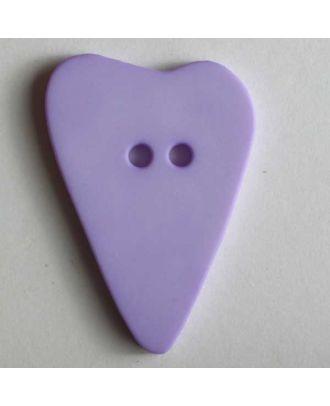 Heart button - Size: 28mm - Color: lilac - Art.No. 289062