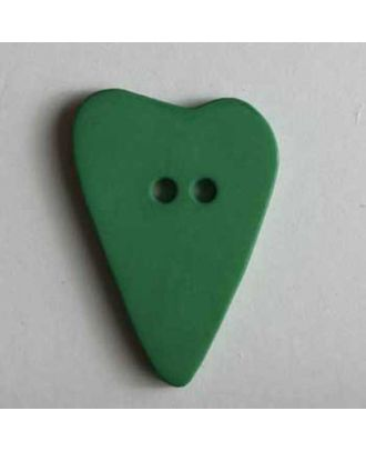 Heart button - Size: 28mm - Color: green - Art.No. 289065