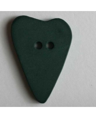 Heart button - Size: 28mm - Color: green - Art.No. 289067