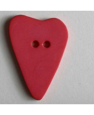 Heart button - Size: 28mm - Color: pink - Art.No. 289069