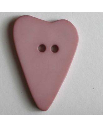 Heart button - Size: 28mm - Color: pink - Art.No. 289070