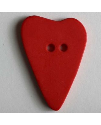 Heart button - Size: 28mm - Color: red - Art.No. 289071