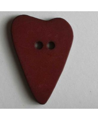 Heart button - Size: 28mm - Color: red - Art.No. 289072