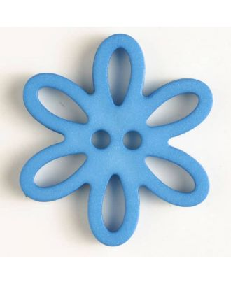 polyamide button - Size: 28mm - Color: blue - Art.-Nr.: 330746