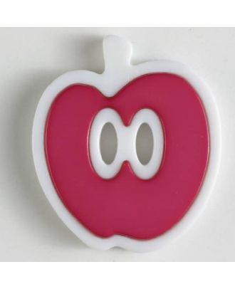 apple  button 2 holes - Size: 25mm - Color: pink - Art.No. 330774