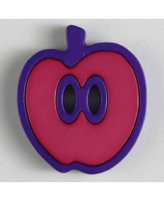 apple  button 2 holes - Size: 25mm - Color: pink - Art.No. 330780