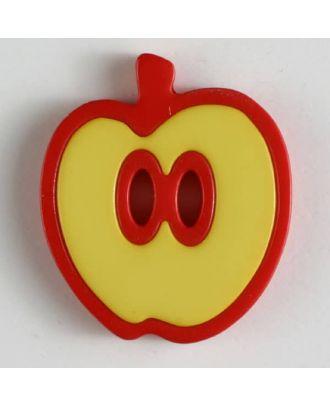 apple  button 2 holes - Size: 25mm - Color: yellow - Art.No. 330777