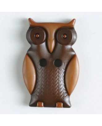 Owl with two holes - Size: 25mm - Color: brown - Art.No. 330796