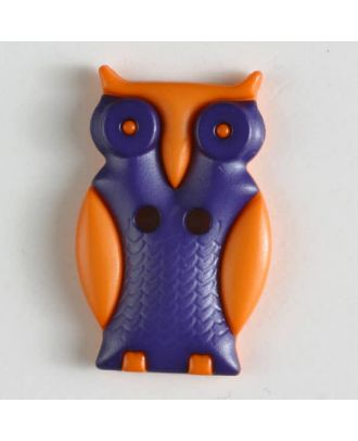 Owl with two holes - Size: 25mm - Color: lilac - Art.No. 330799