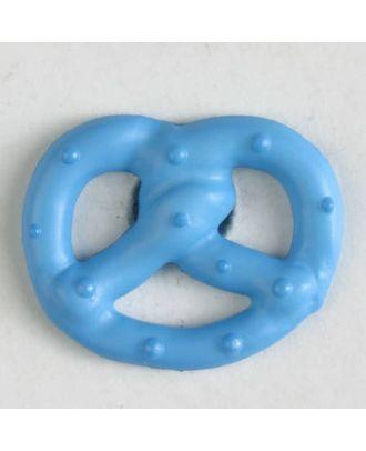 pretzel button with shank - Size: 20mm - Color: blue - Art.No. 281021
