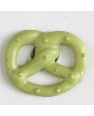 pretzel button with shank - Size: 20mm - Color: green - Art.No. 281023