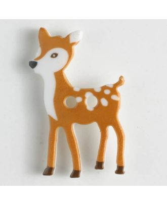 polyamide button, deer, 2 holes - Size: 28mm - Color: brown - Art.No. 341100