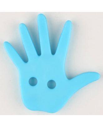 hand, 2 holes - Size: 25mm - Color: blue - Art.No. 331031