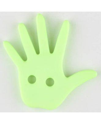 hand, 2 holes - Size: 25mm - Color: green - Art.No. 331032