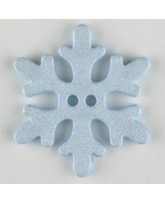 snowflake, 2 holes - Size: 20mm - Color: blue - Art.-Nr.: 281062