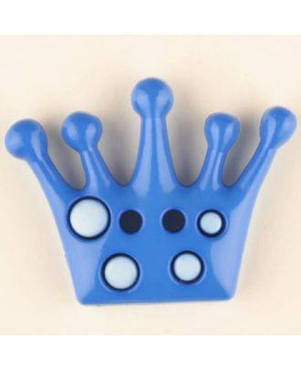 crown, 2 holes - Size: 28mm - Color: blue - Art.No. 341163
