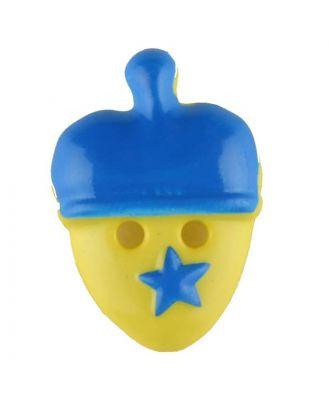 Acorn, 2 holes - Size: 20mm - Color: blue - Art.No. 310960