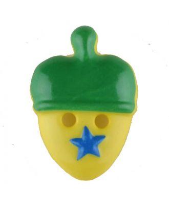Acorn, 2 holes - Size: 20mm - Color: green - Art.No. 310961