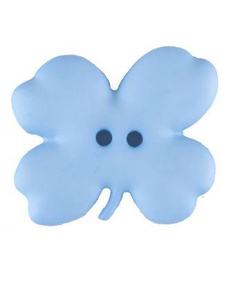 Cloverleaf, 2 holes - Size: 23mm - Color: blue - Art.No. 310949