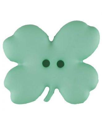Cloverleaf, 2 holes - Size: 23mm - Color: green - Art.No. 310950