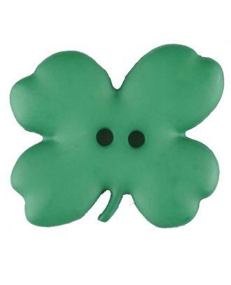 Cloverleaf, 2 holes - Size: 23mm - Color: green - Art.No. 310951